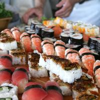 Event planning includes sushi for your wedding party at the Corral de Tierra Country Club on the Monterey Peninsula.