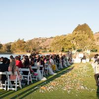 Golf course wedding in the sunny weather at Corral de Tierra Country Club.